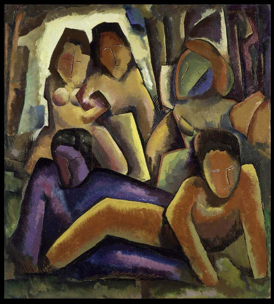 Five Figures, 1914 by Man Ray
